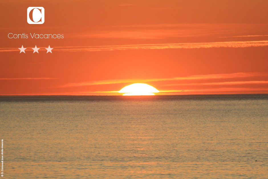 Sonnenuntergang in Contis